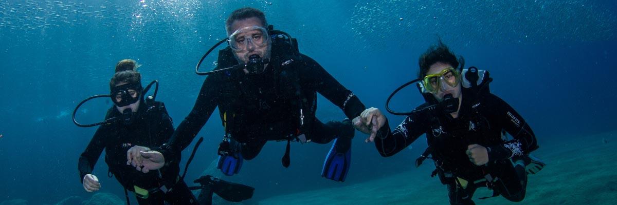 Family fun diving in Lanzarote